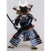figurine samourai peinte gilles carda katana chine noir 71c