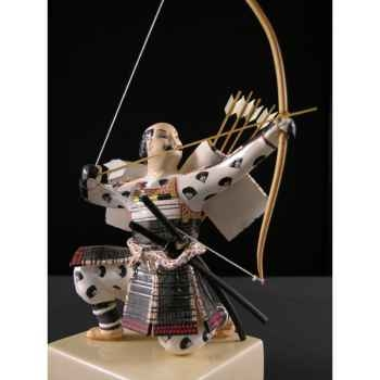 Figurine Samourai peinte Gilles Carda Arc Gauche noir -75C