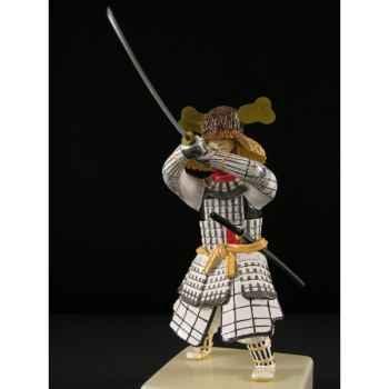 Figurine Samourai peinte Gilles Carda Katana blanc Eventail -83C