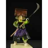 figurine samourai peinte gilles carda naginata falaise 84c