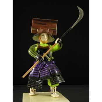 Figurine Samourai peinte Gilles Carda Naginata Falaise -84C
