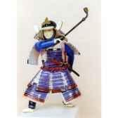 figurine samourai peinte gilles carda pipe violette 85c