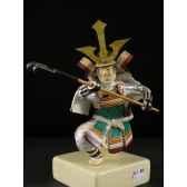 figurine samourai peinte gilles carda lance griffe 89c