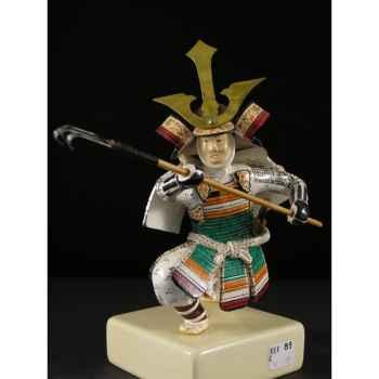 Figurine Samourai peinte Gilles Carda Lance Griffe -89C