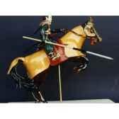 figurine samourai peinte gilles carda cavalier arnache uari 90c