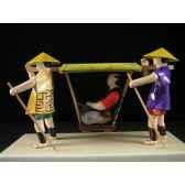 figurine samourai peinte gilles carda palanquin ouvert 91c