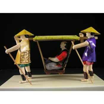 Figurine Samourai peinte Gilles Carda Palanquin Ouvert -91C