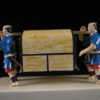 Figurine Samourai peinte Gilles Carda Palanquin Fermé -92C