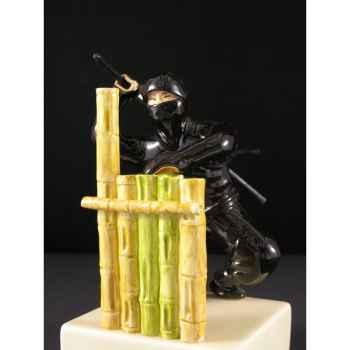 Figurine Samourai peinte Gilles Carda Ninja aux Bambous -95C