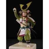 figurine samourai peinte gilles carda sai blanc 101c