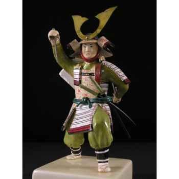 Figurine Samourai peinte Gilles Carda Sai blanc -101C