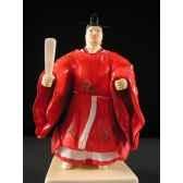 figurine samourai peinte gilles carda noble rouge 108c