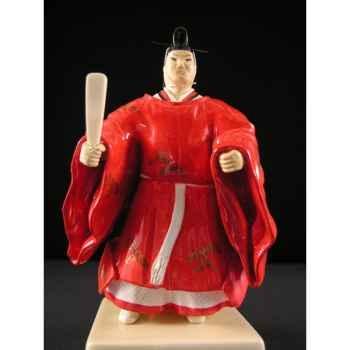 Figurine Samourai peinte Gilles Carda Noble rouge -108C