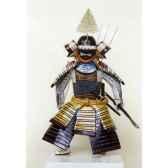 figurine samourai peinte gilles carda arc moutarde 116c