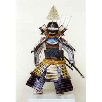 Figurine Samourai peinte Gilles Carda Arc Moutarde -116C