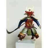 figurine samourai peinte gilles carda naginata 3 oies 136c