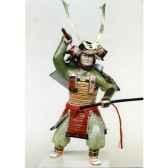 figurine samourai peinte gilles carda katana tete de lion 139c