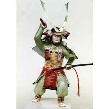 Figurine Samourai peinte Gilles Carda Katana Tête de Lion -139C