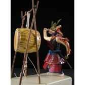 figurine samourai peinte gilles carda taiko tambour de guerre 144c