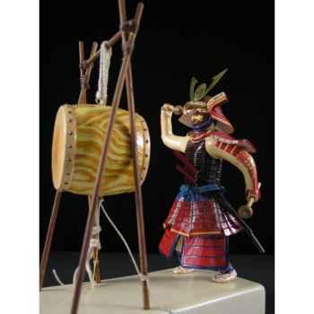Figurine Samourai peinte Gilles Carda Taiko Tambour de Guerre -144C