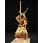 figurine samourai peinte gilles carda jo torse nu 145c
