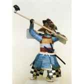 figurine samourai peinte gilles carda hache bleue 146c