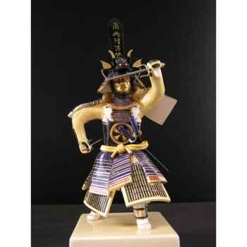 Figurine Samourai peinte Gilles Carda Sai bleu 47 -148C