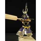 figurine samourai peinte gilles carda rame 153c