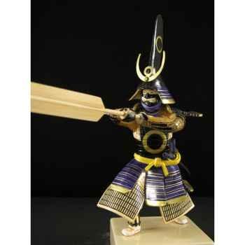 Figurine Samourai peinte Gilles Carda Rame -153C
