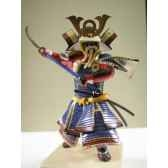 figurine samourai peinte gilles carda nodashi bleu 154c