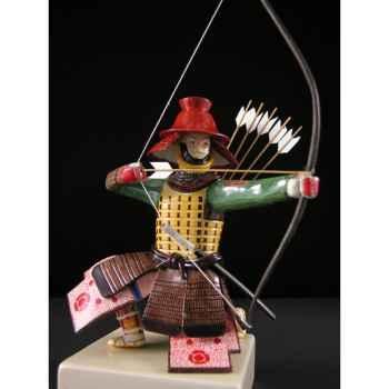 Figurine Samourai peinte Gilles Carda Arc au Bol -157C