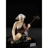 figurine samourai peinte gilles carda samisen 158c