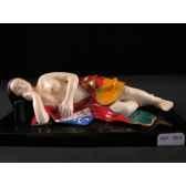 figurine samourai peinte gilles carda femme couchee 160c