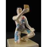 figurine samourai peinte gilles carda tatoo 165c