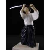 figurine samourai peinte gilles carda aikido 166c