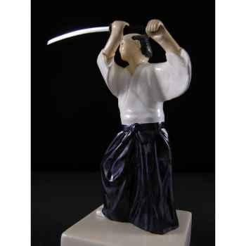 Figurine Samourai peinte Gilles Carda Aikido -166C
