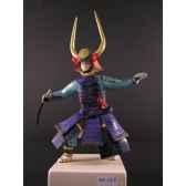 figurine samourai peinte gilles carda katana cornes or 167c
