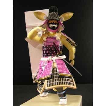 Figurine Samourai peinte Gilles Carda Bouclier -171C