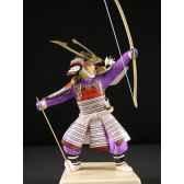figurine samourai peinte gilles carda kyudo blanc 172c