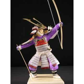 Figurine Samourai peinte Gilles Carda Kyudo blanc -172C