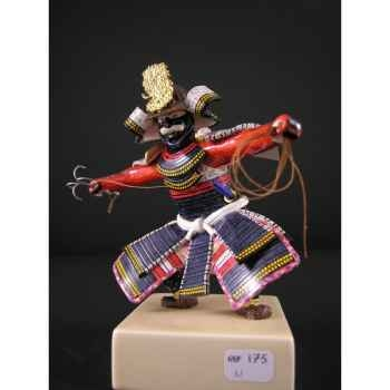 Figurine Samourai peinte Gilles Carda Grapin -175C