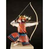 figurine samourai peinte gilles carda kyudo murier 176c