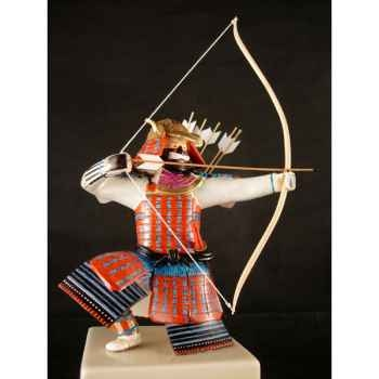 Figurine Samourai peinte Gilles Carda Kyudo Murier -176C