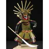 figurine samourai peinte gilles carda naginata vert 177c