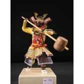figurine samourai peinte gilles carda massue beige 178c