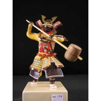 Figurine Samourai peinte Gilles Carda Massue beige -178C