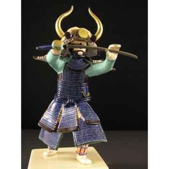 Figurine Samourai peinte Gilles Carda Katana Criniere -179C