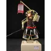 figurine samourai peinte gilles carda yari lanterne 180c