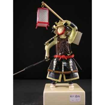 Figurine Samourai peinte Gilles Carda Yari Lanterne -180C