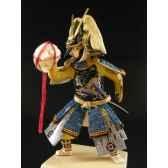 figurine samourai peinte gilles carda conque bleue 181c